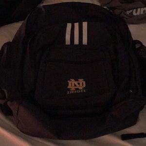 Notre Dame adidas back pack